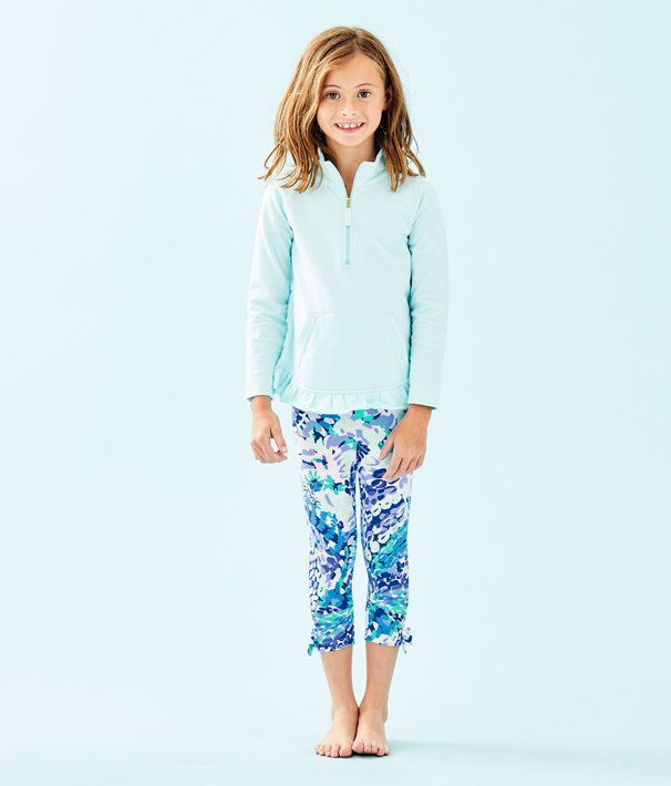 Girls Maia Legging, Turquoise Oasis Wave After Wave, large