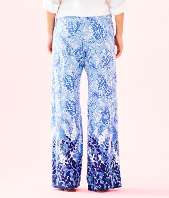 "33"" Bal Harbour Palazzo Pant, Blue Peri Turtley Awesome Engineered Pants, large"