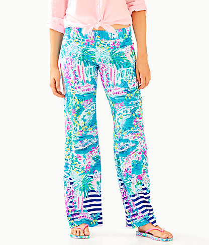 """33"""" Bal Harbour Palazzo Pant, Multi Postcards From Positano Engineered Pant, large 0"""