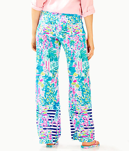 """33"""" Bal Harbour Palazzo Pant, Multi Postcards From Positano Engineered Pant, large 1"""