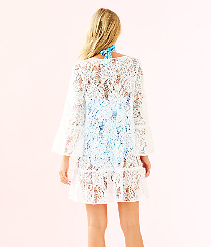 Payton Cover Up, Resort White Paradise Found Lace, large 1