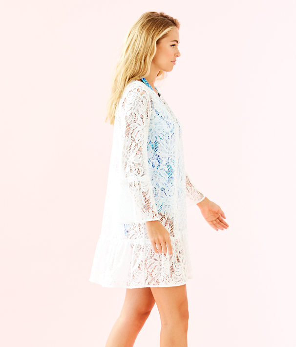 Payton Cover Up, Resort White Paradise Found Lace, large