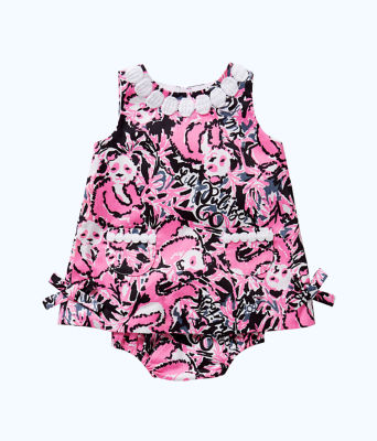 Baby Lilly Shift, Hibiscus Pink Hangin With My Boo, large 0