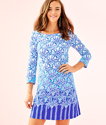 Bay Dress, Whisper Blue One Of A Kind Engineered Dress, large