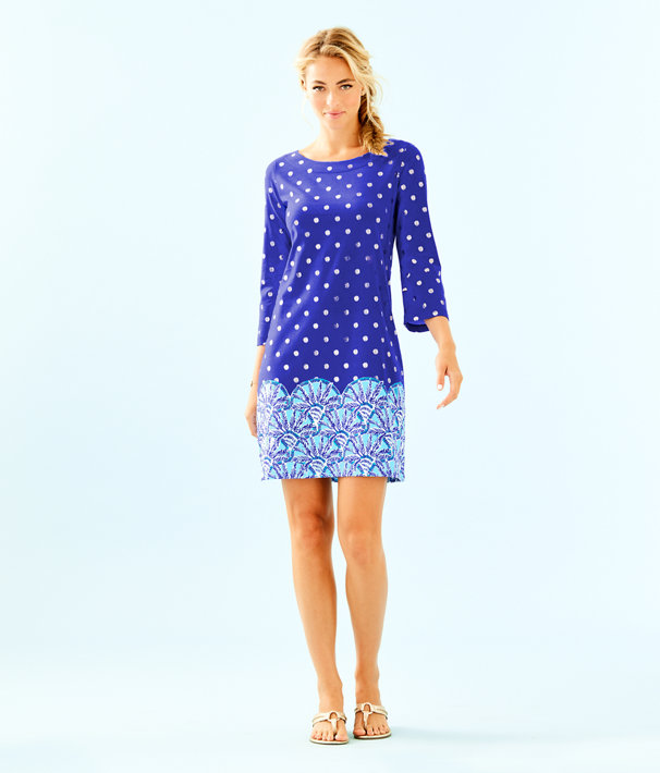 Bay Dress, Blue Grotto Squeeze the Juice Engineered Dress, large