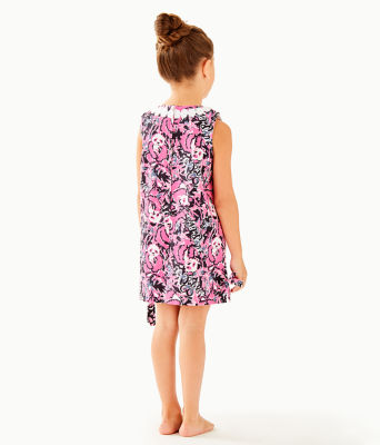 Girls Little Lilly Classic Shift Dress, Hibiscus Pink Hangin With My Boo, large
