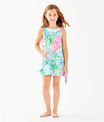 Girls Little Lilly Classic Shift Dress, Multi Bohemian Queen, large