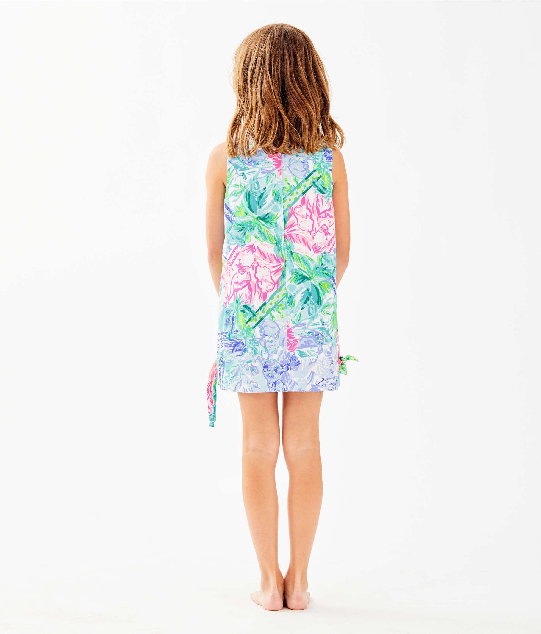 6438fcc371d9d5 Girls Little Lilly Classic Shift Dress, Multi Bohemian Queen, large ...