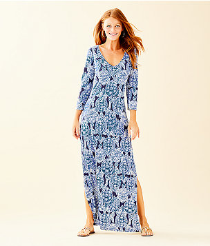 Anissa Maxi Dress, Deep Indigo Snap To It, large