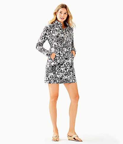 UPF 50+ Captain Dress, Onyx With A Twist, large 3