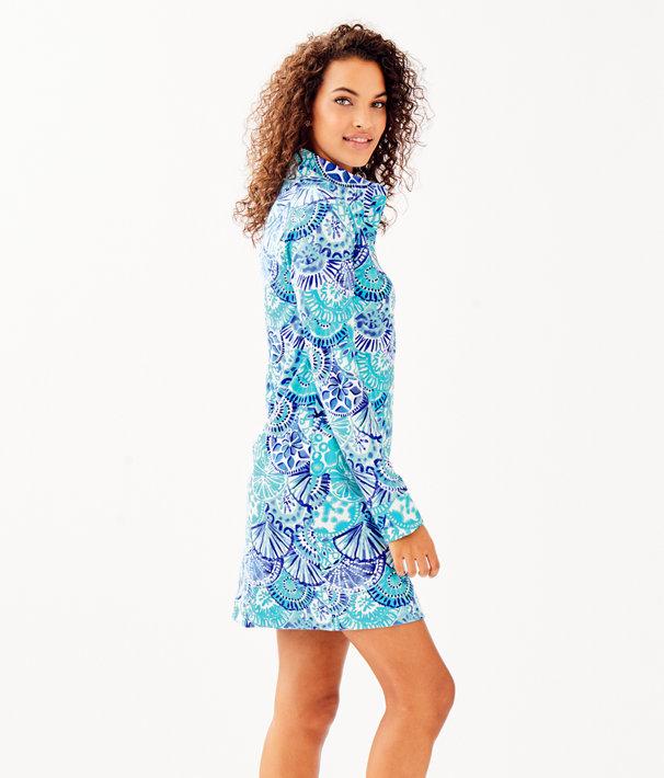 UPF 50+ Captain Dress, Turquoise Oasis Half Shell, large
