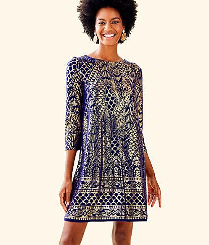 ec5419bee59 Ophelia Metallic Swing Dress