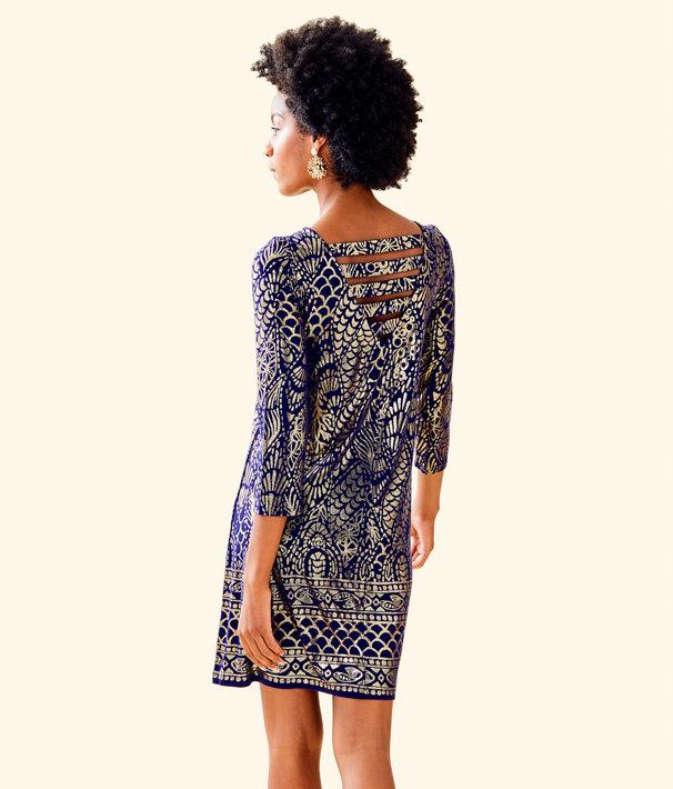 d446fe735fc ... Ophelia Metallic Swing Dress