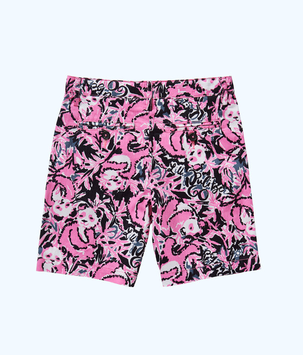 Boys Beaumont Short, Hibiscus Pink Hangin With My Boo, large
