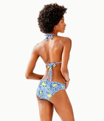 Guava Triangle Bikini Top, Resort White Zest For Life Swim, large