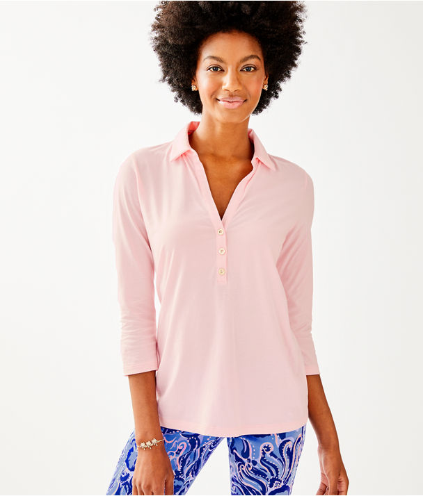 Ansley Polo, Melon Fig Tint, large