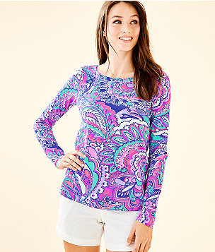 Tristan Top, Pink Tropics Mermaids Call, large
