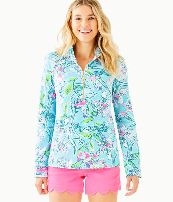 UPF 50+ Skipper Popover, Bali Blue Sway This Way, large 0