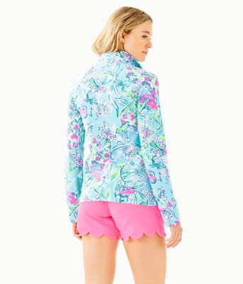UPF 50+ Skipper Popover, Bali Blue Sway This Way, large