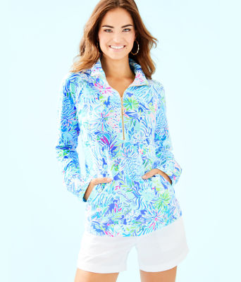 UPF 50+ Skipper Popover, Coastal Blue Lion Around, large