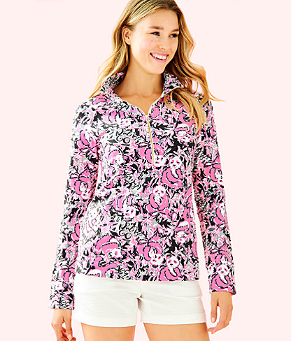 UPF 50+ Skipper Popover, Hibiscus Pink Hangin With My Boo, large