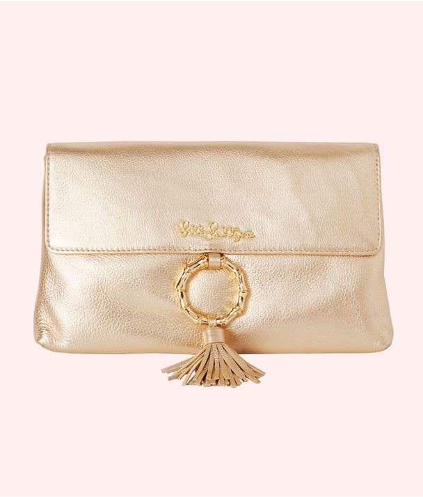 San Sebastian Clutch, Gold Metallic, large