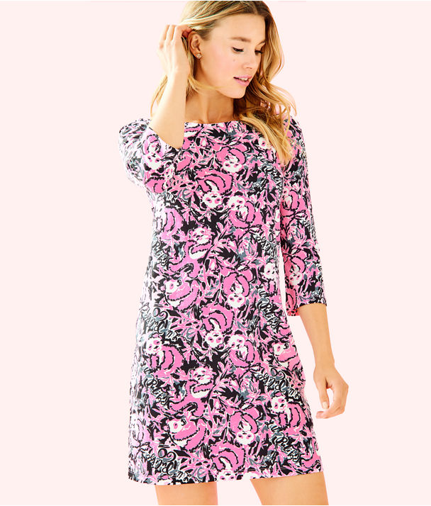 Bay Dress, Hibiscus Pink Hangin With My Boo, large