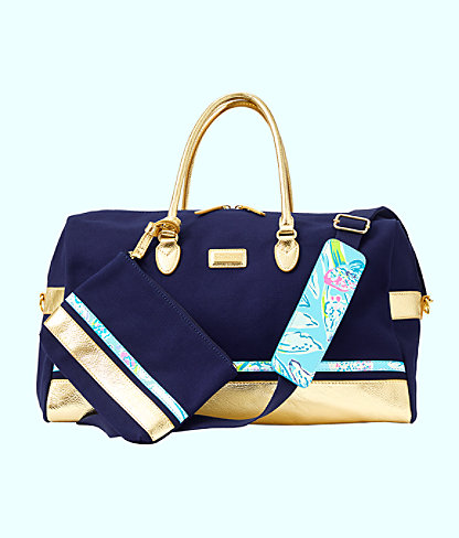 Gypsea Weekender Bag and Pouch Set, Inky Navy, large 1
