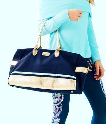 Gypsea Weekender Bag and Pouch Set, Inky Navy, large