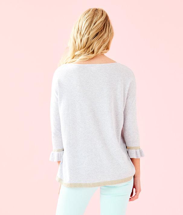 Charla Sweater, Heathered Seaside Grey, large