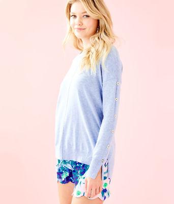 Melenie Sweater, Heathered Blue Peri, large