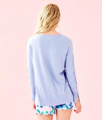 Melenie Sweater, Heathered Blue Peri, large 1