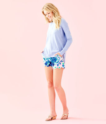 Melenie Sweater, Heathered Blue Peri, large 2