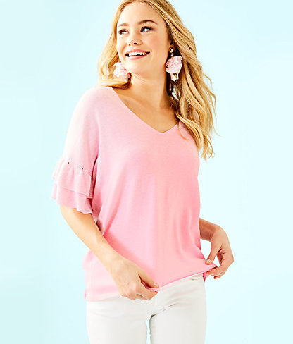 Kresta Coolmax Sweater, Heathered Pink Tropics Tint, large 0