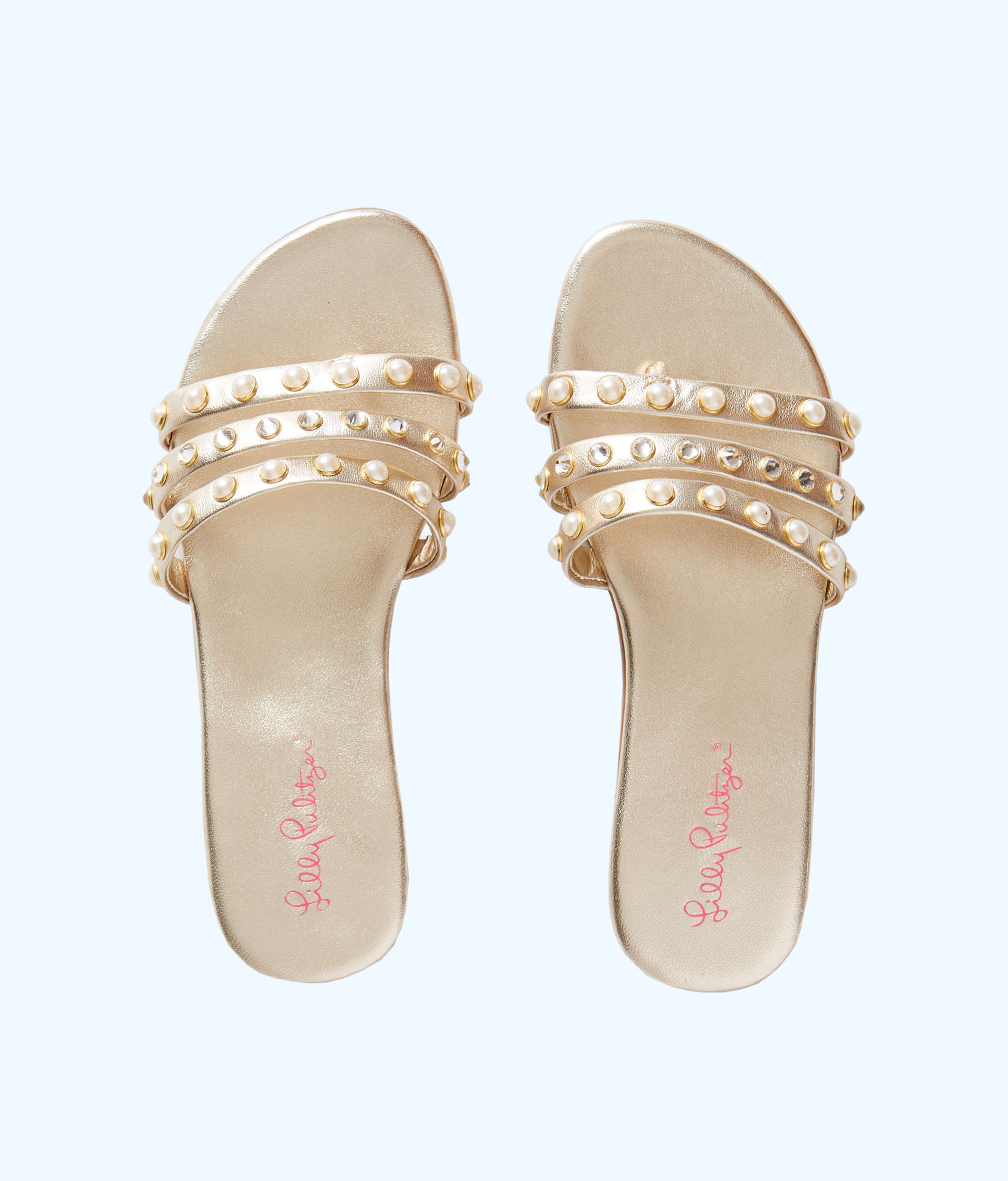 Tabbie Embellished Sandal, Gold Metallic, large
