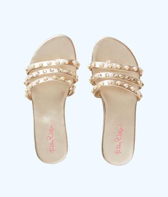Tabbie Embellished Sandal, Gold Metallic, large 0