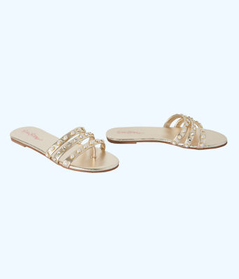 Tabbie Embellished Sandal, Gold Metallic, large 1