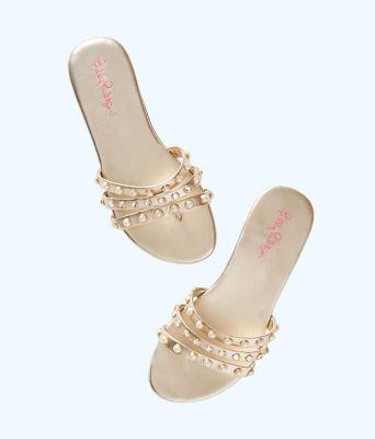 Tabbie Embellished Sandal, Gold Metallic, large