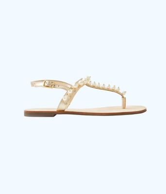 Moira Pearl Sandal, Gold Metallic, large