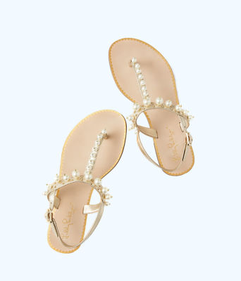 Moira Pearl Sandal, Gold Metallic, large 2