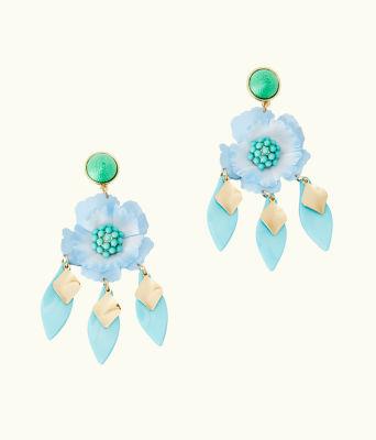 Garden Gem Statement Earrings, Bali Blue, large