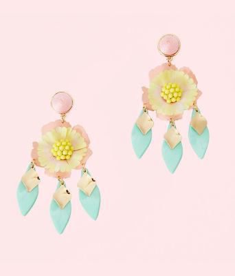 Garden Gem Statement Earrings, Multi, large