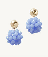 Caliente Clip On Earrings, Blue Peri, large