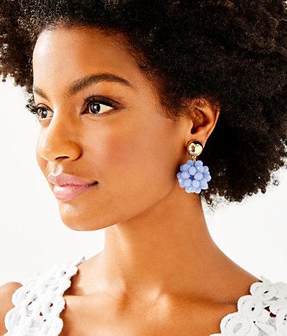 Caliente Clip On Earrings, Blue Peri, large 1