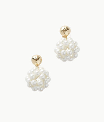 Caliente Clip On Earrings, Resort White, large 0