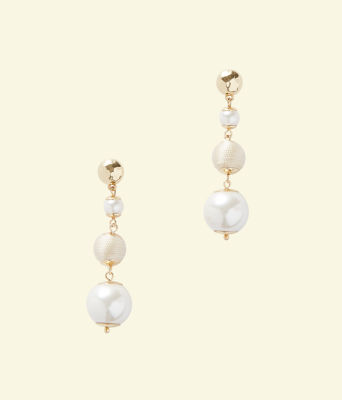 Pearl Perfect Earrings, Resort White, large