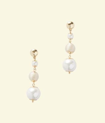 Pearl Perfect Earrings, Resort White, large