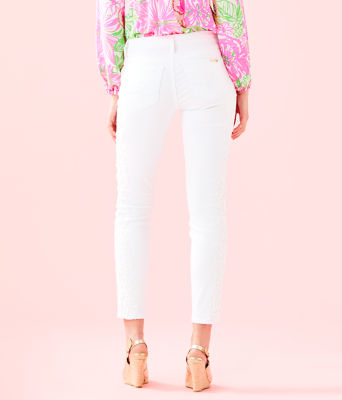 """29"""" South Ocean Skinny Crop with Lace, Resort White, large 1"""