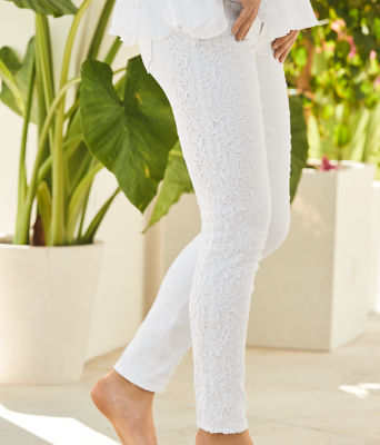 """29"""" South Ocean Skinny Crop with Lace, Resort White, large 4"""