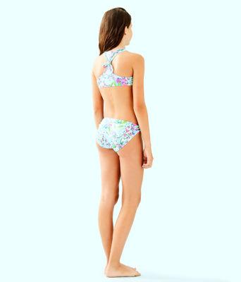 UPF 50+ Girls Maisie Bikini, Bali Blue Sway This Way Swim, large 1